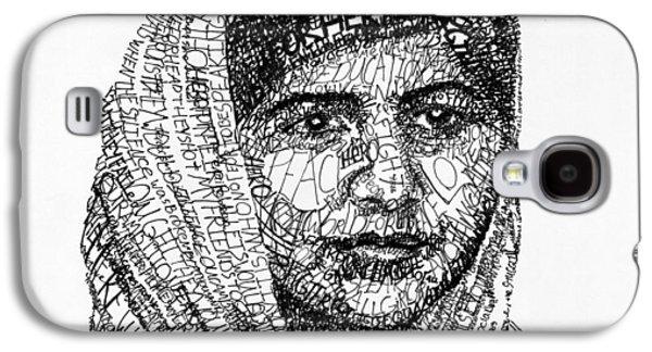 Malala Yousafzai Galaxy S4 Case by Michael  Volpicelli