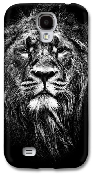 Lions Mixed Media Galaxy S4 Cases - Male Asiatic Lion Galaxy S4 Case by Meirion Matthias