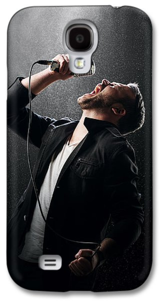 Singing Galaxy S4 Cases - Male Singer performing Galaxy S4 Case by Johan Swanepoel