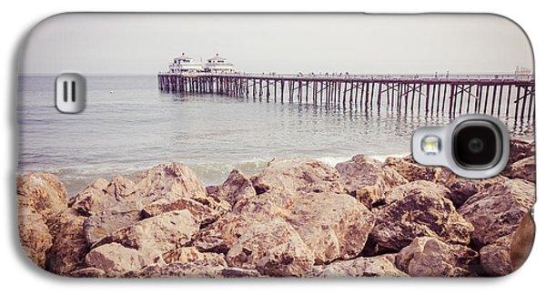 Landmarks Photographs Galaxy S4 Cases - Malibu Pier Retro Picture in Malibu California Galaxy S4 Case by Paul Velgos