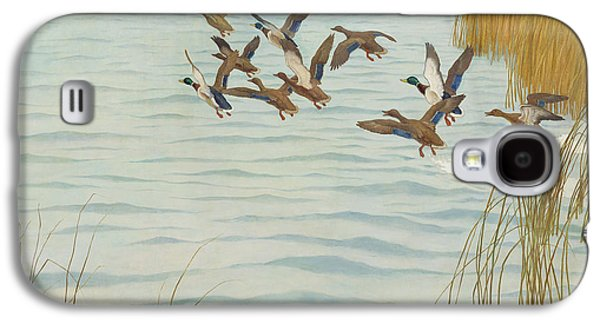 Mallards In Autumn Galaxy S4 Case by Newell Convers Wyeth