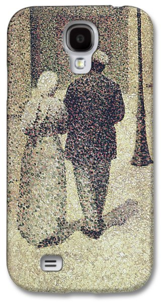 Man And Woman In The Street Galaxy S4 Case by Charles Angrand