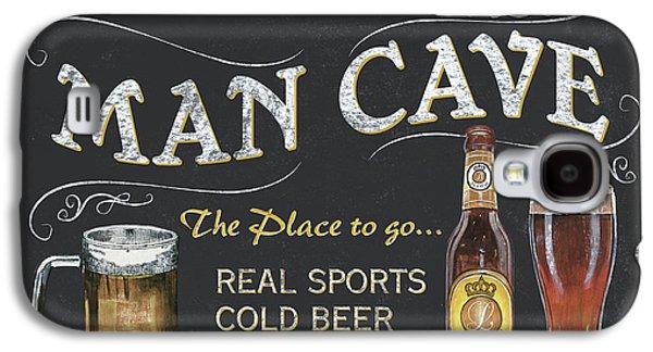 Man Cave Chalkboard Sign Galaxy S4 Case by Debbie DeWitt