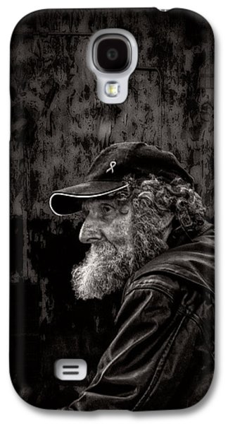 Thinking Galaxy S4 Cases - Man With A Beard Galaxy S4 Case by Bob Orsillo