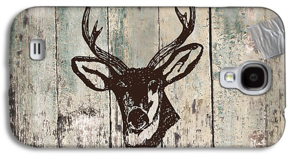Hammer Paintings Galaxy S4 Cases - Mancave Deer Rack Galaxy S4 Case by Mindy Sommers