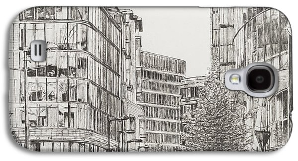 Pen And Ink Drawing Drawings Galaxy S4 Cases - Manchester  Deansgate Galaxy S4 Case by Vincent Alexander Booth