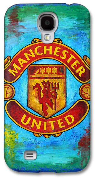 Manchester United Vintage Galaxy S4 Case by Dan Haraga