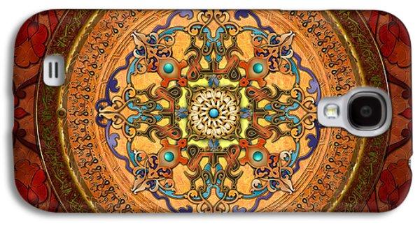 Ancient Galaxy S4 Cases - Mandala Arabia Galaxy S4 Case by Bedros Awak
