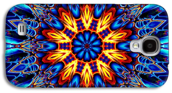 Religious Tapestries - Textiles Galaxy S4 Cases - Mandala Flower 1 Galaxy S4 Case by Marcus Mattern