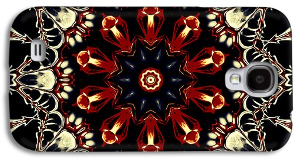 Religious Tapestries - Textiles Galaxy S4 Cases - Mandala Flower 2 Galaxy S4 Case by Marcus Mattern