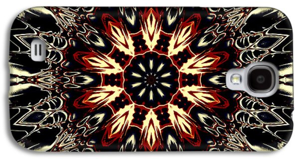 Religious Tapestries - Textiles Galaxy S4 Cases - Mandala Flower 3 Galaxy S4 Case by Marcus Mattern