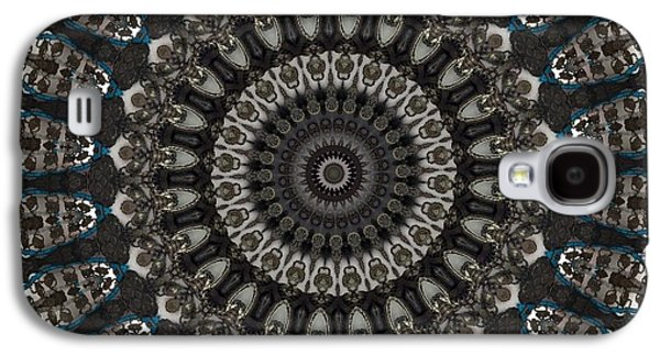 Blue Abstracts Galaxy S4 Cases - Mandala No 1 Galaxy S4 Case by Lene Pieters