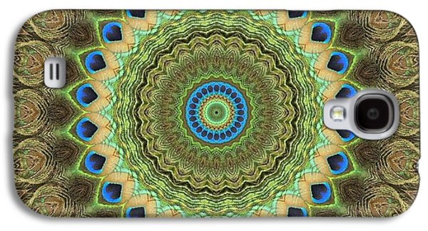 Blue Abstracts Galaxy S4 Cases - Mandala No 13 Galaxy S4 Case by Lene Pieters