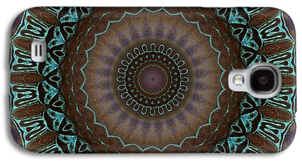 Blue Abstracts Galaxy S4 Cases - Mandala No 16 Galaxy S4 Case by Lene Pieters
