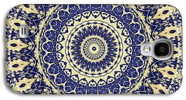 Blue Abstracts Galaxy S4 Cases - Mandala No 23 Galaxy S4 Case by Lene Pieters