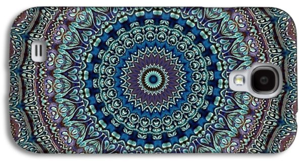Blue Abstracts Galaxy S4 Cases - Mandala No 3 Galaxy S4 Case by Lene Pieters