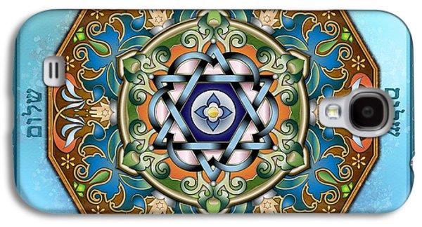 Ancient Galaxy S4 Cases - Mandala Shalom Galaxy S4 Case by Bedros Awak