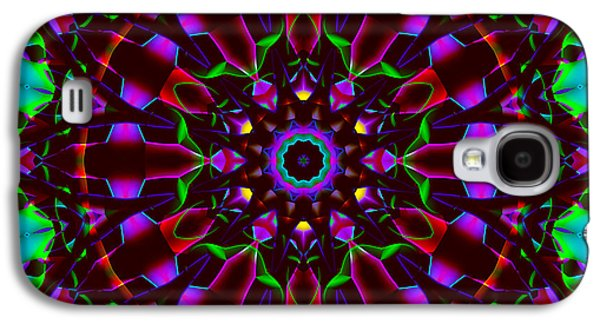 Religious Tapestries - Textiles Galaxy S4 Cases - Mandala - Stained Glass 1 Galaxy S4 Case by Marcus Mattern