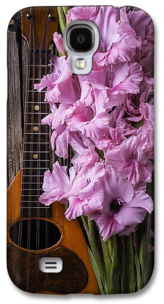 Hand Made Galaxy S4 Cases - Mandolin And Glads Galaxy S4 Case by Garry Gay