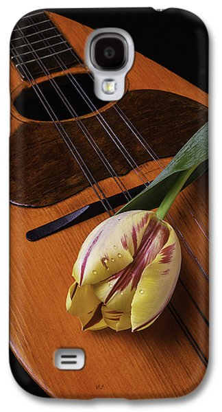 Hand Made Galaxy S4 Cases - Mandolin And Tulip Galaxy S4 Case by Garry Gay