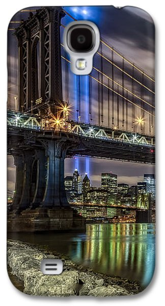 Wtc 11 Galaxy S4 Cases - Manhattan Bridge 911 Tribute Galaxy S4 Case by Susan Candelario