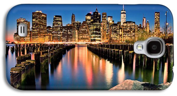 Midtown Galaxy S4 Cases - Manhattan Skyline At Dusk Galaxy S4 Case by Az Jackson