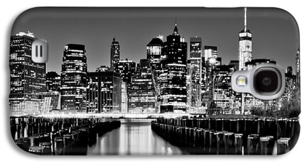 Midtown Galaxy S4 Cases - Manhattan Skyline BW Galaxy S4 Case by Az Jackson