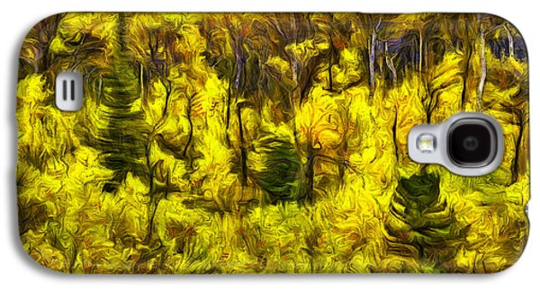 Abstract Digital Photographs Galaxy S4 Cases - Many Glacier Abstract Galaxy S4 Case by Mark Kiver