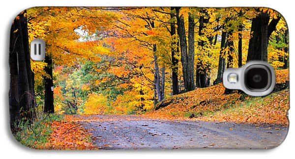Scenic Drive Galaxy S4 Cases - Maples of Rupert Vermont Galaxy S4 Case by Thomas Schoeller