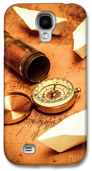 Maps And Bearings Galaxy S4 Case by Jorgo Photography - Wall Art Gallery