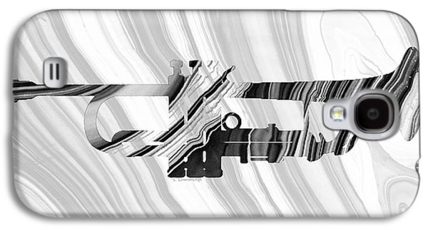 Marbled Music Art - Trumpet - Sharon Cummings Galaxy S4 Case by Sharon Cummings