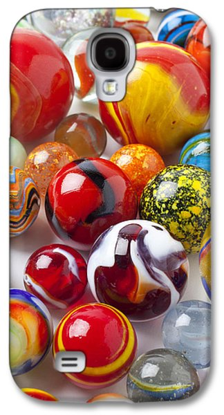 Marble Galaxy S4 Cases - Marbles close up Galaxy S4 Case by Garry Gay
