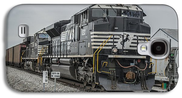 Evansville Galaxy S4 Cases - March 18. 2015 - Norfolk Southern loaded coal train NDN-1 Galaxy S4 Case by Jim Pearson