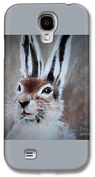 March Hare In Colour Galaxy S4 Case by Angela Cartner