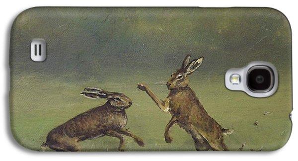 March Hares Galaxy S4 Case by Sean Conlon