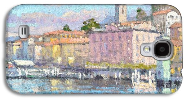 Lake Como Paintings Galaxy S4 Cases - March in Bellagio Galaxy S4 Case by Jerry Fresia