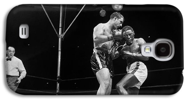 Boxer Galaxy S4 Cases - Marciano & Charles, 1954 Galaxy S4 Case by Granger