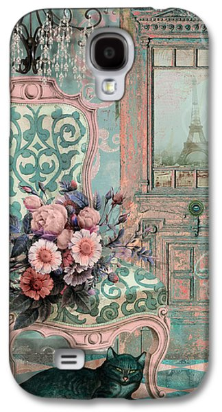 Marcie In Paris Galaxy S4 Case by Mindy Sommers