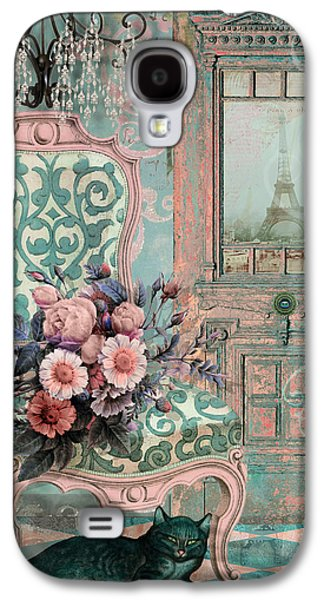 Interior Still Life Paintings Galaxy S4 Cases - Marcie in Paris Galaxy S4 Case by Mindy Sommers