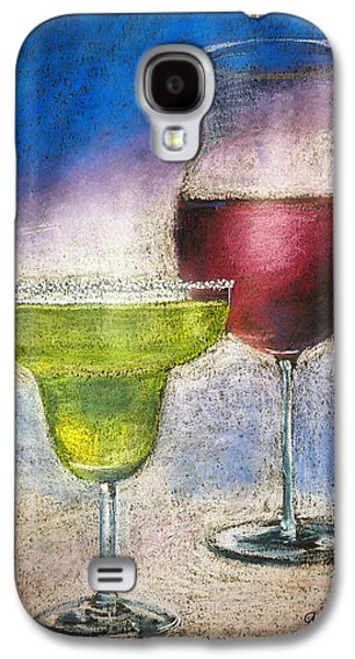 Still Life Pastels Galaxy S4 Cases - Margarita And A Glass Of Wine Galaxy S4 Case by Arline Wagner