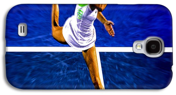 Sharapova Galaxy S4 Cases - Maria Sharapova in Motion Galaxy S4 Case by Brian Reaves