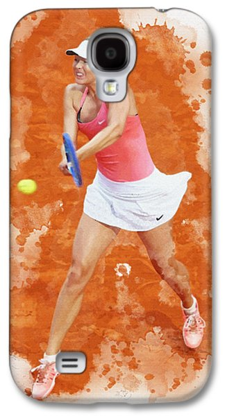 Sharapova Galaxy S4 Cases - Maria Sharapova of Russia celebrates after winning Galaxy S4 Case by Don Kuing