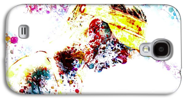 Maria Sharapova Paint Splatter 4p                 Galaxy S4 Case by Brian Reaves