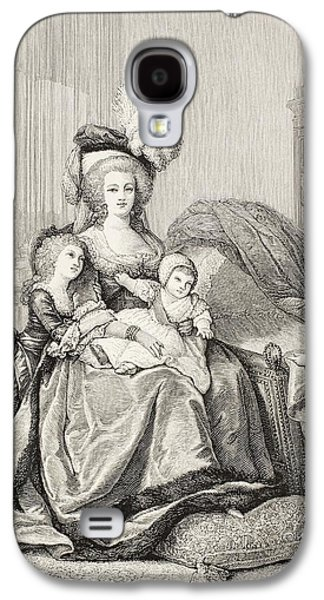 Charlotte Drawings Galaxy S4 Cases - Marie-antoinette And Her Children. From Galaxy S4 Case by Ken Welsh