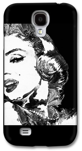 Big Screen Galaxy S4 Cases - Marilyn Monroe Painting - Bombshell Black And White - By Sharon Cummings Galaxy S4 Case by Sharon Cummings