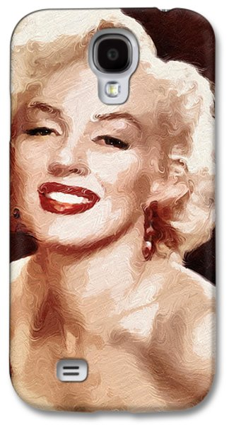 Girl Galaxy S4 Cases - Marilyn Monroe Semi Abstract Galaxy S4 Case by Georgiana Romanovna