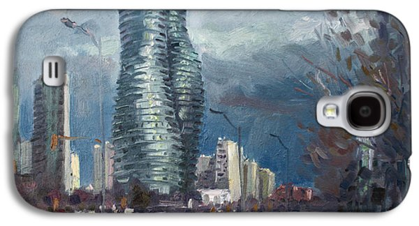 Actors Paintings Galaxy S4 Cases - Marilyn Monroe Towers Mississauga Galaxy S4 Case by Ylli Haruni