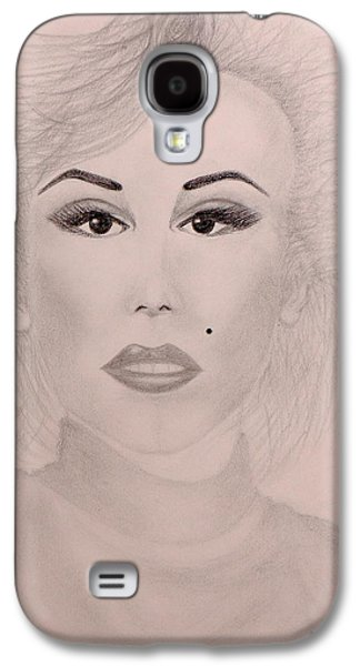 Drawing Pyrography Galaxy S4 Cases - Marilyn Monroe Galaxy S4 Case by Ursula Coccomo