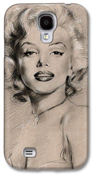 Drawing Pastels Galaxy S4 Cases - Marilyn Monroe Galaxy S4 Case by Ylli Haruni