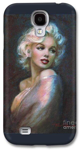 Marilyn Romantic Ww Dark Blue Galaxy S4 Case by Theo Danella
